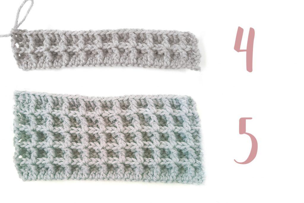 Crochet waffle stitch example