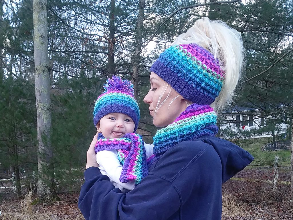 "Waffle Stitch ""Mommy and Me Set"""