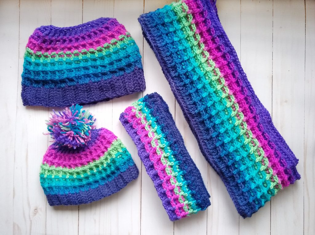 Matching Child and Mommy Waffle Stitch Sets
